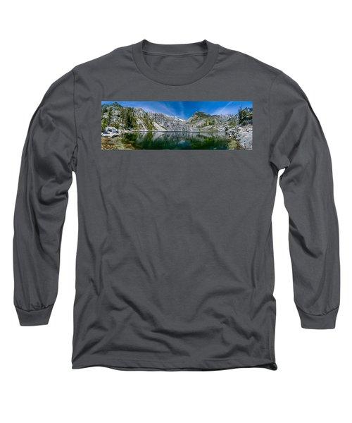 Upper Canyon Creek Lake Panorama Long Sleeve T-Shirt