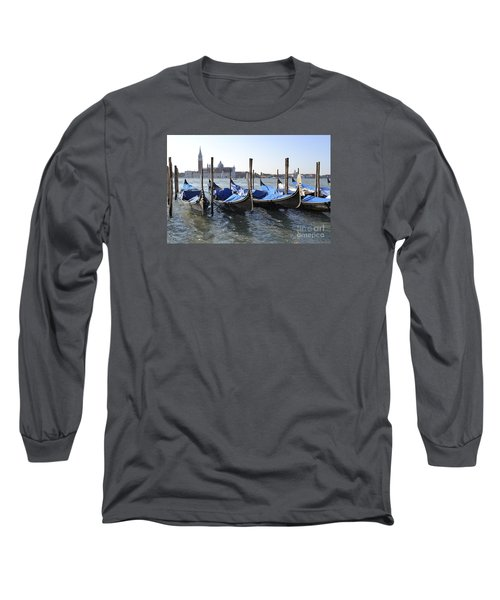 Long Sleeve T-Shirt featuring the photograph Venice Gondolas by Rebecca Margraf