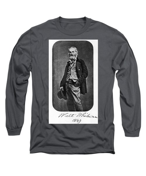 Walt Whitman, American Poet Long Sleeve T-Shirt