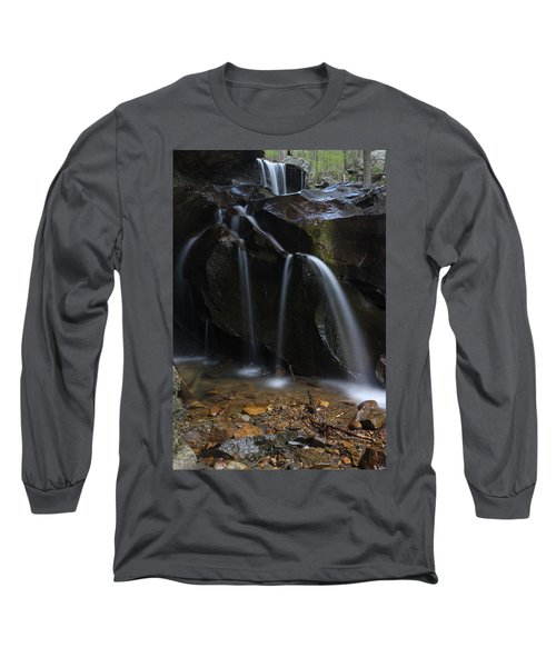 Long Sleeve T-Shirt featuring the photograph Waterfall On Emory Gap Branch by Daniel Reed