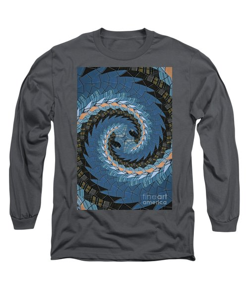 Long Sleeve T-Shirt featuring the photograph Wave Mosaic. by Clare Bambers