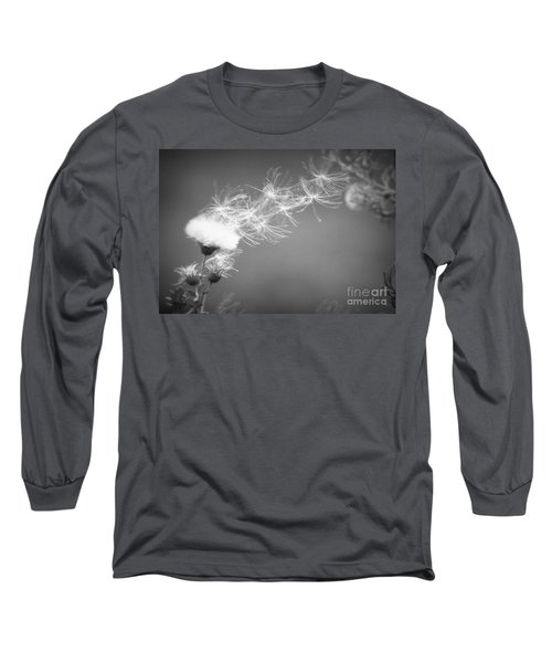Long Sleeve T-Shirt featuring the photograph Weed In The Wind by Deniece Platt