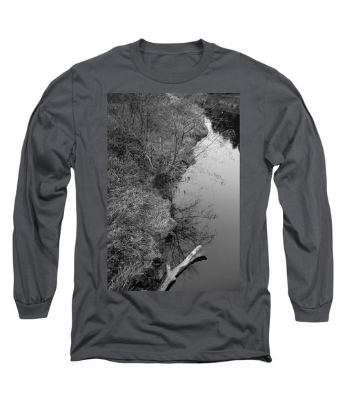 White Branch Riverside  Long Sleeve T-Shirt by Kathleen Grace