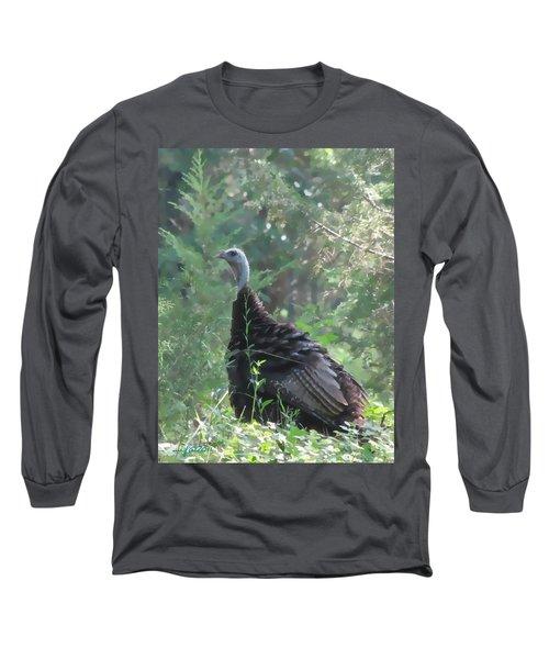 Wild Turkey 6380 3x4 Long Sleeve T-Shirt by Maciek Froncisz
