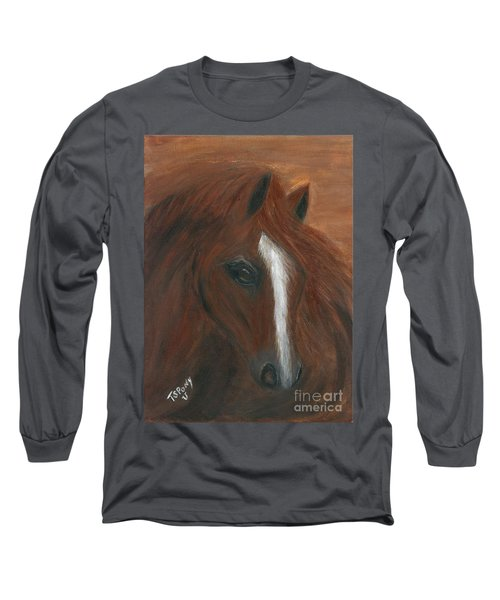 Long Sleeve T-Shirt featuring the painting Wildfire by Barbie Batson