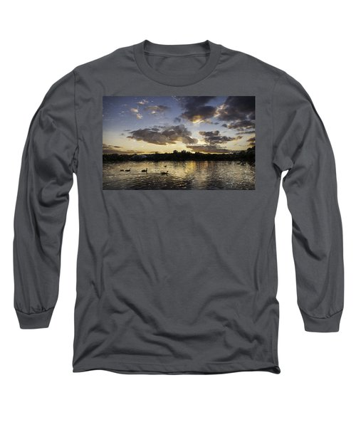 Long Sleeve T-Shirt featuring the digital art Wimbledon Sunset by Matt Malloy