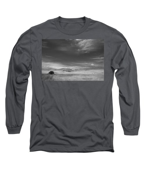 Long Sleeve T-Shirt featuring the photograph Windmills In The Distant Hills by Kathleen Grace