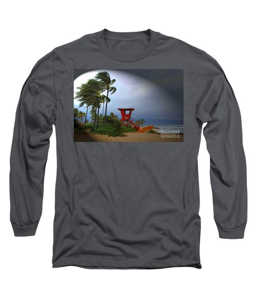 Windy Day In Haleiwa Long Sleeve T-Shirt by Mark Gilman