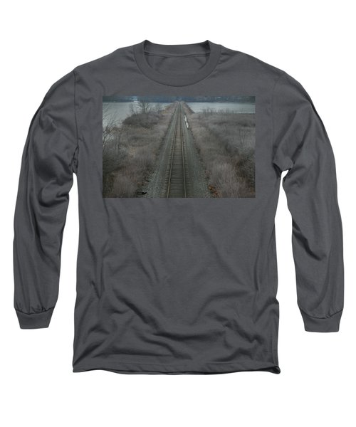 Winter Tracks  Long Sleeve T-Shirt by Neal Eslinger