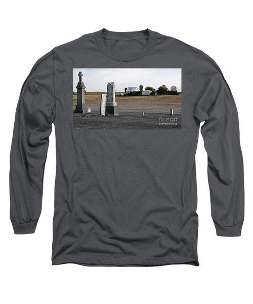 Ye Olde Farmstead Long Sleeve T-Shirt by Sue Stefanowicz