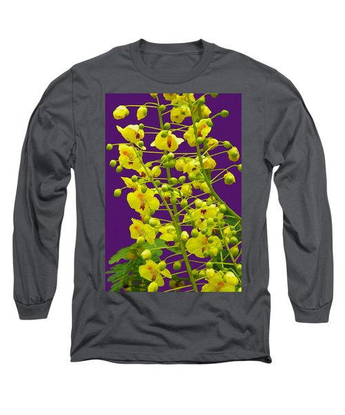 Yellow Flower Long Sleeve T-Shirt by Manuela Constantin
