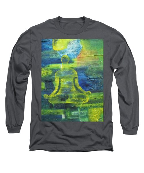 Yoga Textured Canvas Series I Long Sleeve T-Shirt by Patricia Cleasby