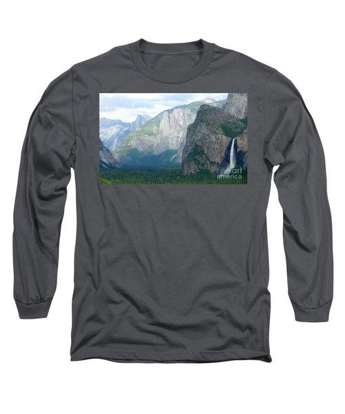 Yosemite Bridalveil Fall Long Sleeve T-Shirt by Henrik Lehnerer