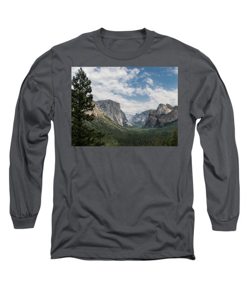 Yosemite Valley From Tunnel View At Yosemite Np Long Sleeve T-Shirt