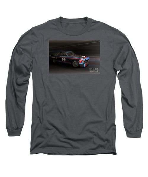 1974  Bmw 3.0 Csl Batmobile Long Sleeve T-Shirt by Roger Lighterness