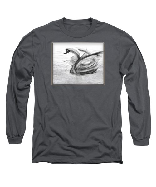 'a Fabric-ated Swan Melody ' Long Sleeve T-Shirt
