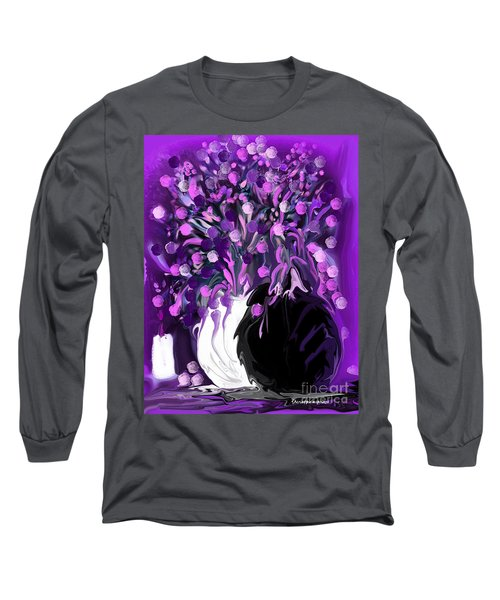 Flower Art Love Purple Flowers  Love Pink Flowers Long Sleeve T-Shirt
