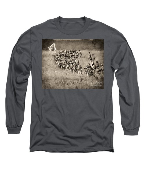 Gettysburg Confederate Infantry 9015s Long Sleeve T-Shirt