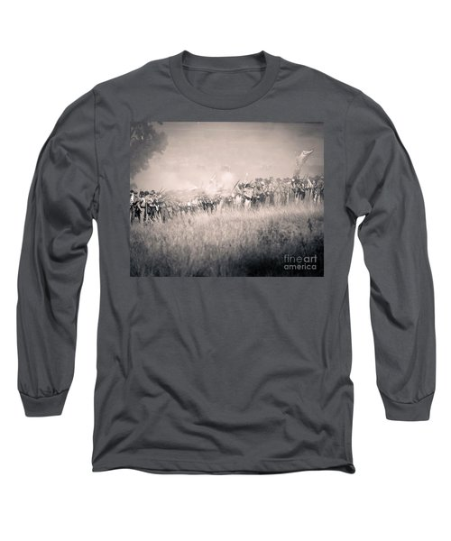 Gettysburg Confederate Infantry 9112s Long Sleeve T-Shirt