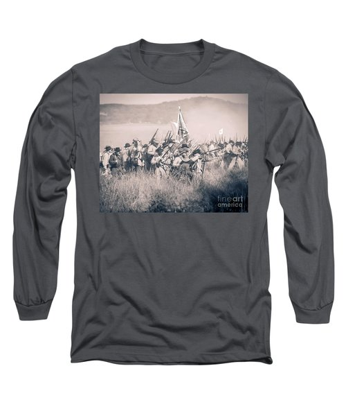 Gettysburg Confederate Infantry 9214s Long Sleeve T-Shirt