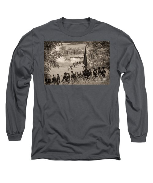Gettysburg Union Artillery And Infantry 7457s Long Sleeve T-Shirt