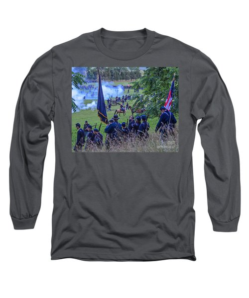 Gettysburg Union Artillery And Infantry 7459c Long Sleeve T-Shirt