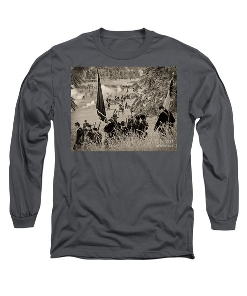 Gettysburg Union Artillery And Infantry 7459s Long Sleeve T-Shirt
