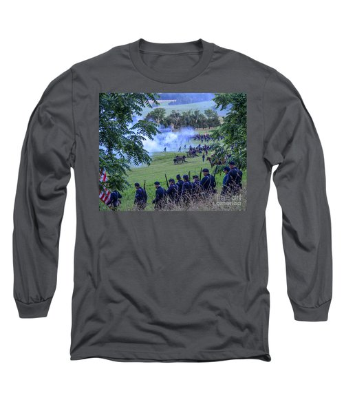 Gettysburg Union Artillery And Infantry 7465c Long Sleeve T-Shirt