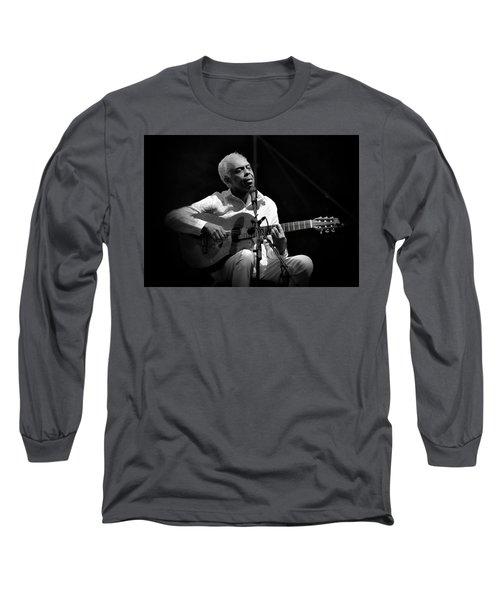 Gilberto Gil   Black And White Long Sleeve T-Shirt