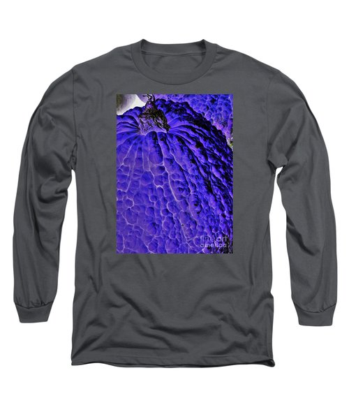 Purple Pumpkin By Jasna Gopic  Long Sleeve T-Shirt by Jasna Gopic