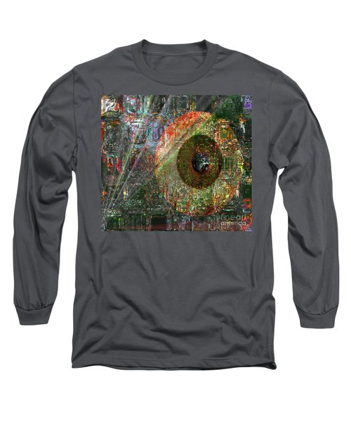 Long Sleeve T-Shirt featuring the digital art  Savior Watching Over Me by Fania Simon