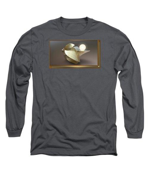 ' Wavy Cut Sculpture Light ' Long Sleeve T-Shirt