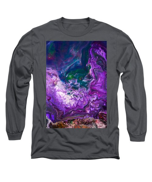 Zeus - Abstract Colorful Mixed Media Painting Long Sleeve T-Shirt by Modern Art Prints