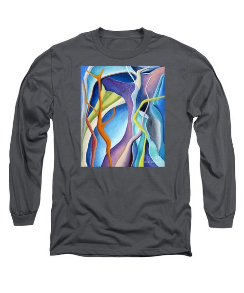 Long Sleeve T-Shirt featuring the painting 01322 Aspiration by AnneKarin Glass