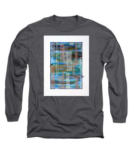 Long Sleeve T-Shirt featuring the painting 01332 Straight by AnneKarin Glass