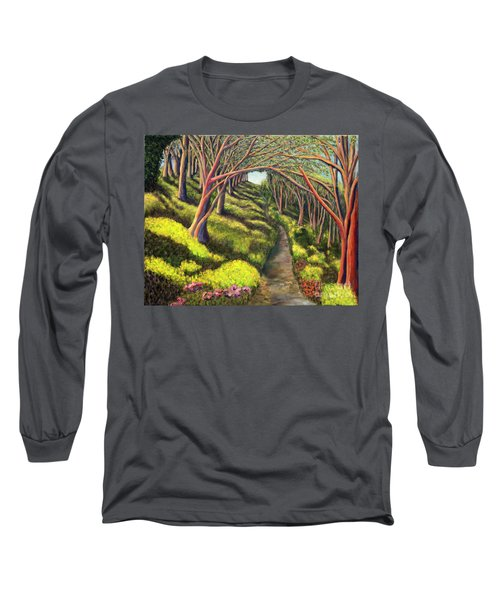 Long Sleeve T-Shirt featuring the painting  01350  Spring  by AnneKarin Glass