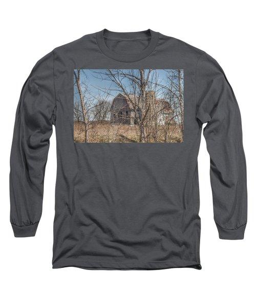0162 - Hill Road Grey I Long Sleeve T-Shirt