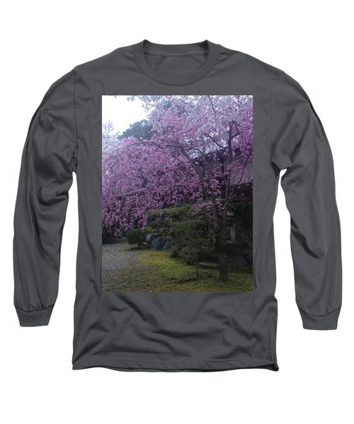 Shidarezakura Mean A Drooping Cherry Tree  Long Sleeve T-Shirt