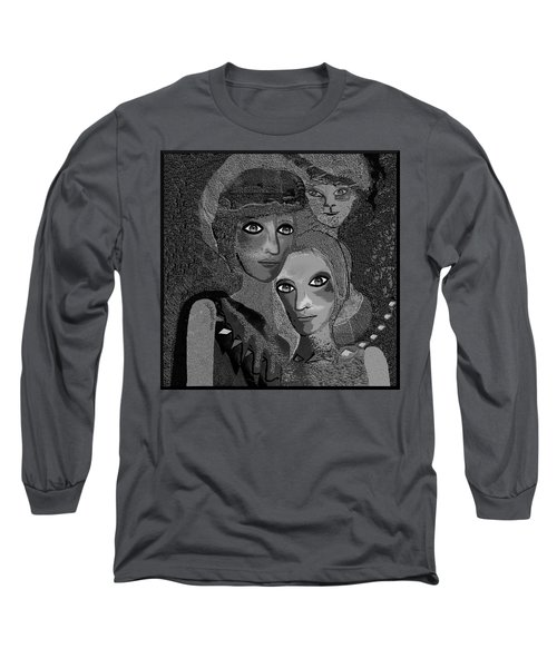 Long Sleeve T-Shirt featuring the digital art 451 - To Lean On by Irmgard Schoendorf Welch
