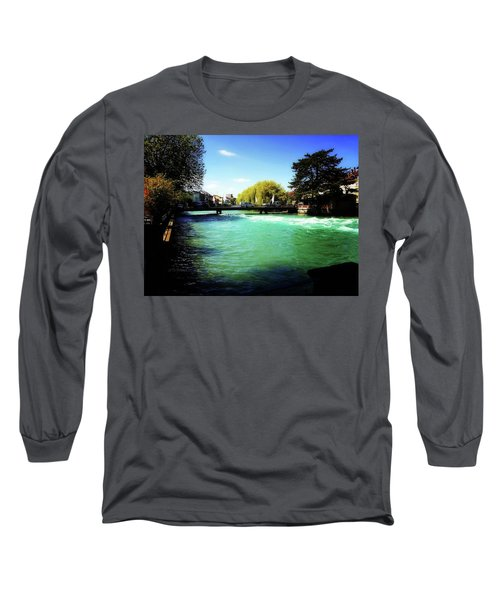 Long Sleeve T-Shirt featuring the photograph Aare River by Mimulux patricia no No