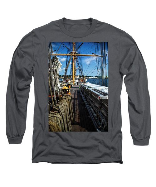 Long Sleeve T-Shirt featuring the photograph Aboard The Eagle by Karol Livote