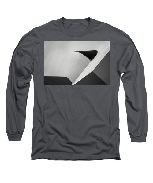 Abstract In Black And White Long Sleeve T-Shirt