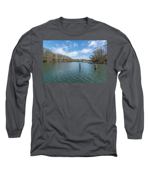 Long Sleeve T-Shirt featuring the photograph Weems Creek Annapolis, Md by Charles Kraus