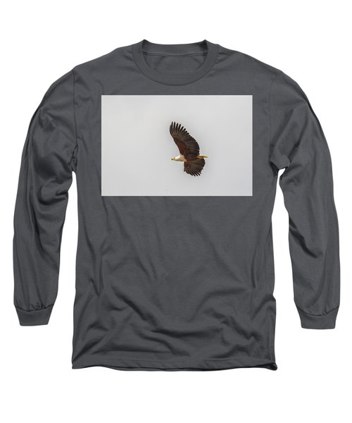 African Fish Eagle Long Sleeve T-Shirt by Kathy Adams Clark