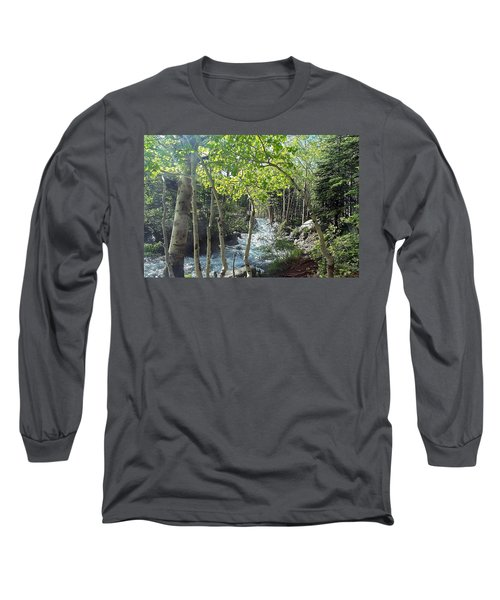 Along Alberta Falls Trail Rocky Mountain National Park Long Sleeve T-Shirt