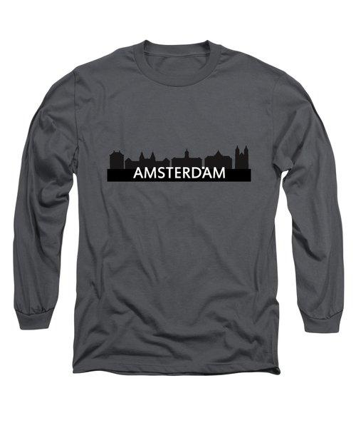 Amsterdam Skyline Long Sleeve T-Shirt