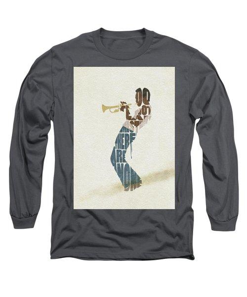Miles Davis Typography Art Long Sleeve T-Shirt