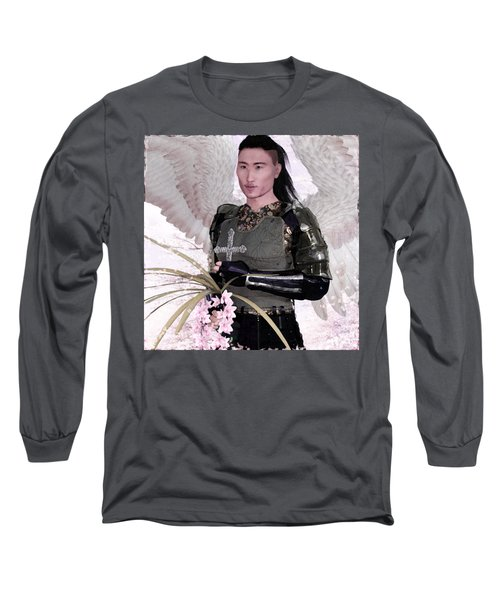 Angel Watercolor Long Sleeve T-Shirt by Suzanne Silvir