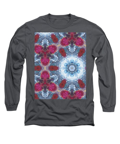 Arctic Blossom Long Sleeve T-Shirt by Maria Watt