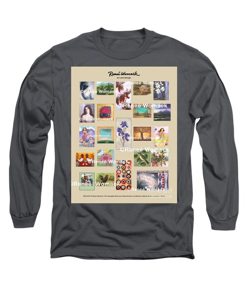 Art Collection Long Sleeve T-Shirt by Renee Womack